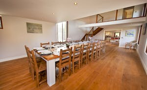 Coat Barn - The dining hall has a huge table to seat 18 - perfect for a celebratory feast