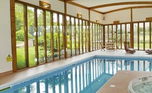 The Spa Hall with beautiful views of the garden.