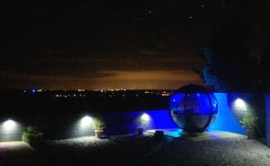 Garden Pod at night