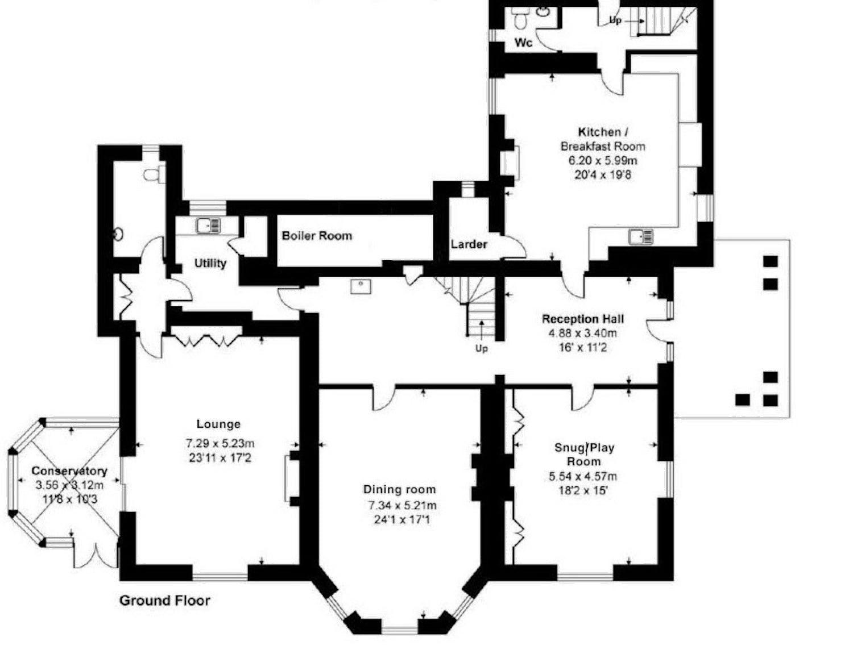 Floorplans Corffe House Devon Corffe Cottages