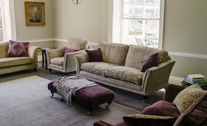 The main lounge offers comfy sofas and stunning views