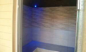 Steam room in the spa area