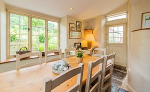 Breakfast area of the kitchen with easterly, southerly and westerly aspects!