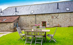 Whinchat Barns -  Each cottage has its own area of garden (unfenced) with furniture and a bbq