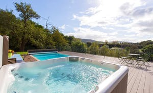 The Benches - Relax in the hot tub and take in the stunning far reaching views