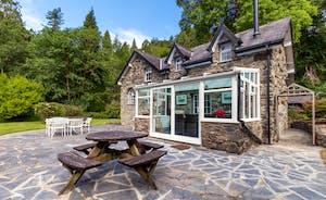 Aber Cottage Rear Exterior - Patio