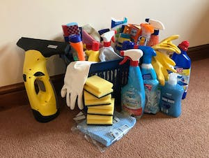Cleaning materials at Southclay Holidays, North Devon