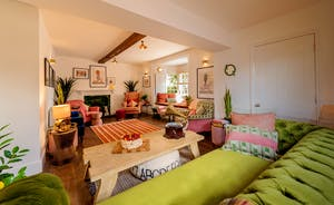 Hesdin Hall - The Living Room: A well chosen colour palette, playful touches