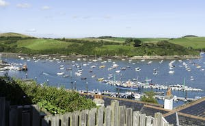 Views of the Salcombe Estuary from the terraced garden area
