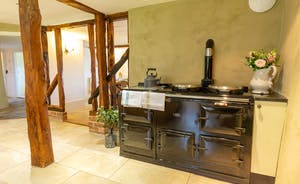 Pippinsands: The main kitchen has an oil fired Aga, the second kitchen, an electric oven and hob