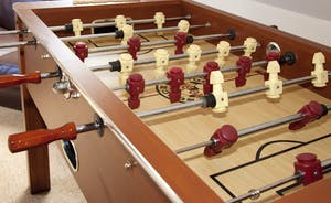 Ramscombe - Table football on the mezzanine