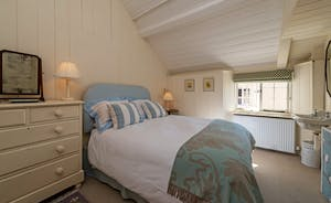 Asham House - Bedroom 6 is in the Coach House and sleeps 2 in a king size bed