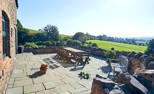 Large terrace with stunning views - perfect for a summer BBQ!
