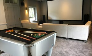 Games Room - State of the art cinema with Sony 4k Projector &  Professional pool table