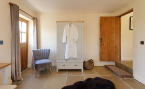 All towels are supplied - and fluffy white robes