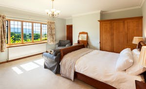 Bossington Hall - Greenaleigh Sands Bedroom - wake up to those incredible views each morning