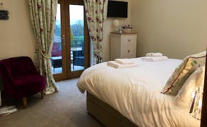 Foxhill Lodge - Bedroom 3: Well co-ordinated interiors, a restful ambience