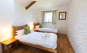 Dippers Rest, Stonehayes Farm - Bedroom 3 is on the ground floor and can be a superking or twin room
