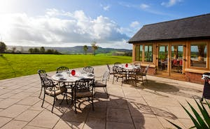 Patio Area With Stunning Views of the Culm Valley