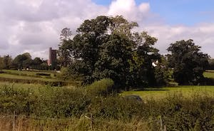 view back the church and village of clyst st george