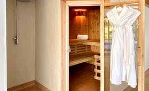 The Cottage Beyond: Sauna in the Spa Hall