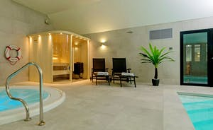 Kingshay Barton - In the spa hall is a glass fronted sauna - the ultimate in relaxation!