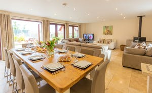 Thorncombe: An open plan living space; perfect for large group stays