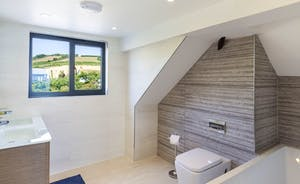 Master bedroom en suite with his and hers sinks