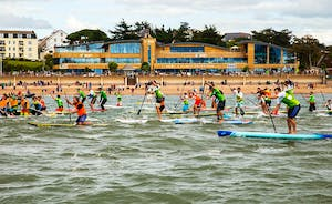 Paddleboard race off Exmouth