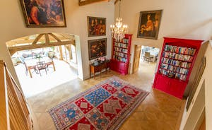 House On The Hill - An exquisite welcome; parquet flooring, antique rugs, books and art