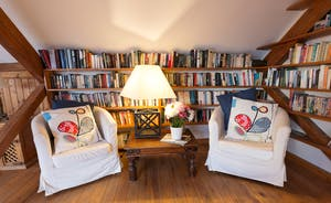 Dustings - A cosy area in the sitting room/library on the first floor