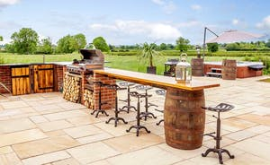 Luxury outdoor BBQ area