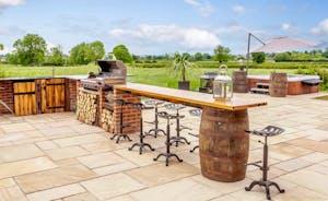 Luxury outdoor BBQ area