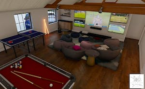 Pigertons - Snooze space for up to 16, a games room, swim spa and roof terrace