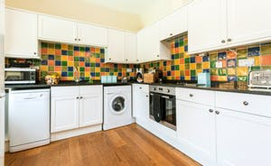 The Kitchen is well equipped with dishwasher, washer/dryer, fridge/freezer and is modern and luxurious