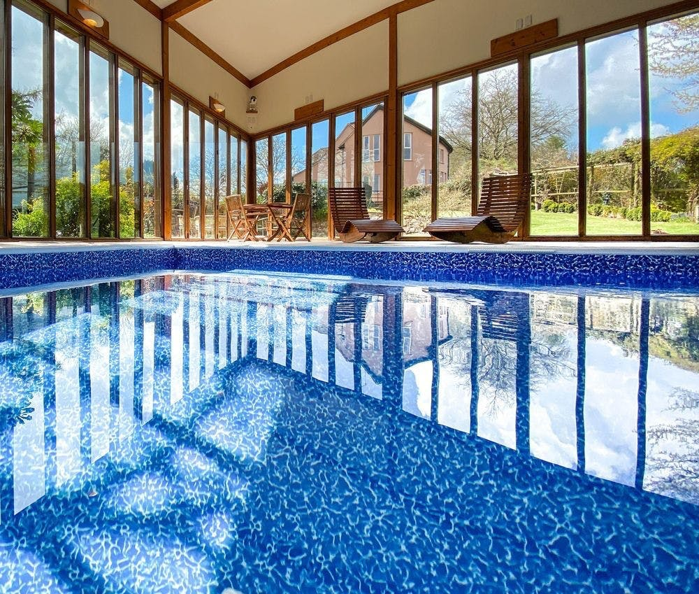 Newly renovated indoor heated swimming pool