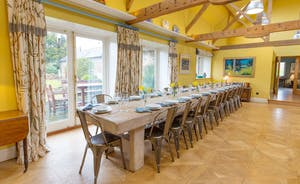 House On The Hill - A seriously chunky hand crafted table with ample room for your whole group to dine