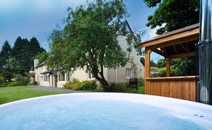 Pitsworthy: In the garden, a wood fired hot tub