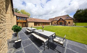 Coat Barn - The courtyard style garden; great for adults to relax and kids to play