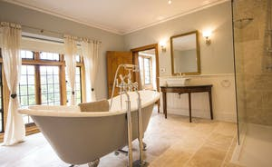 Bossington Hall - The en suite to the Master Bedroom - period style meets modern convenience throughout the house