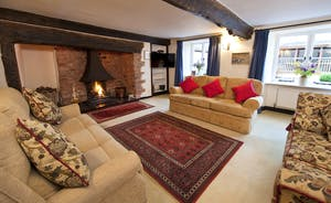 Halse Water House - Cosy lounge, now with a log effect wood burner