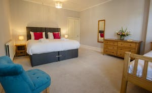 Sandfield House - Bedroom 5 sleeps 3 in a superking and a single bed or in three singles