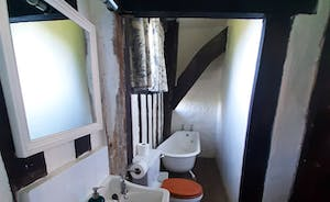 Bedroom 6 ensuite with shower and coffin bath