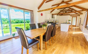 Whinchat Barns - Dippers Rest: The open plan kitchen/dining room has wonderful views over the valley