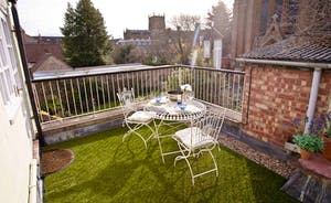 Enjoy coffee or breakfast out on the roof terrace