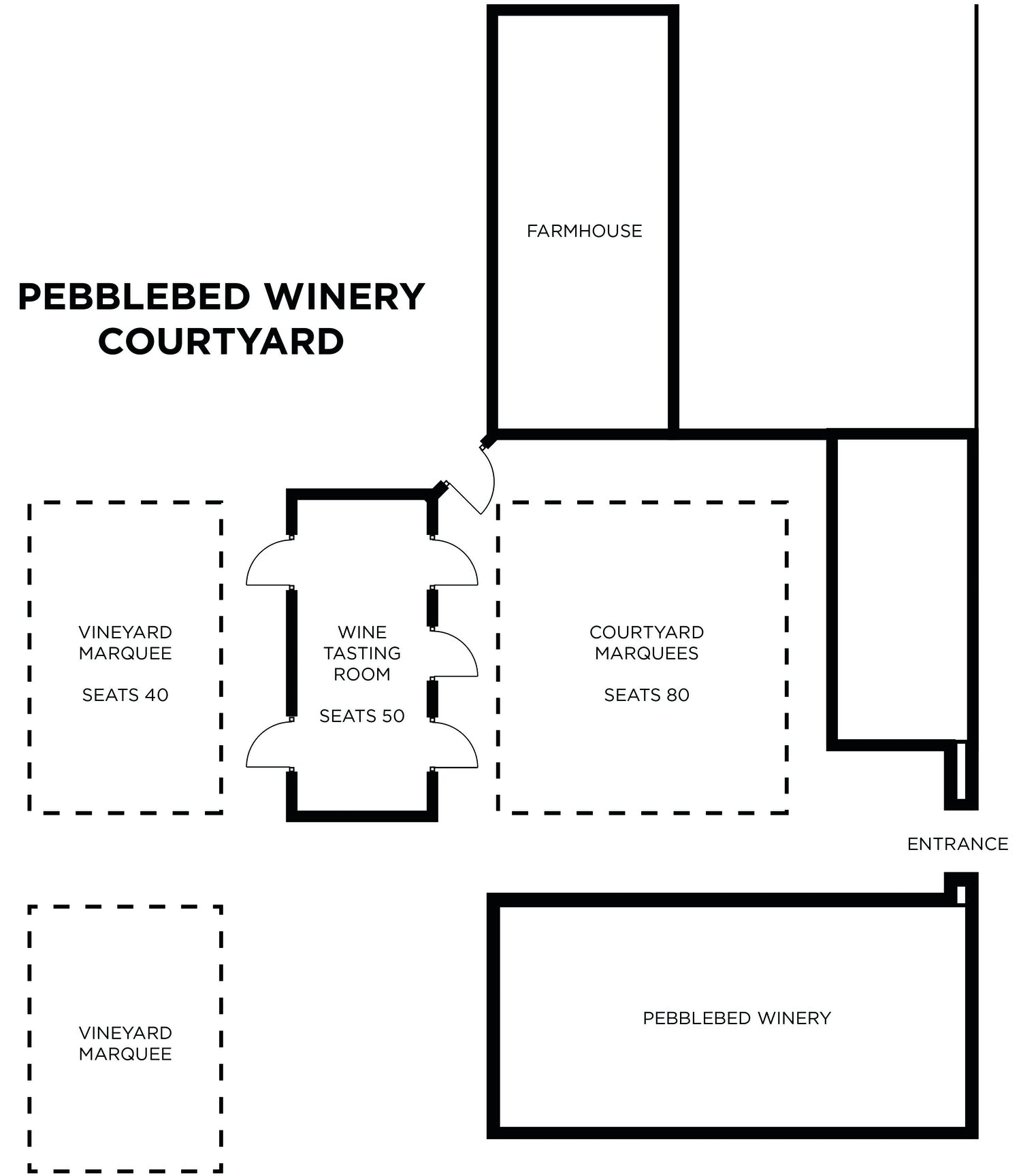 Floorplans the winery courtyard function room and for Courtyard floor plans