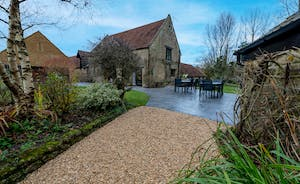 Kingshay Barton - A large patio and 2 acres of grounds to play in