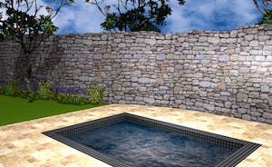 Pound Farm - The attractive side gardens will boast a wonderful sunken hot tub, perfect for star gazing - this is a computer generated image