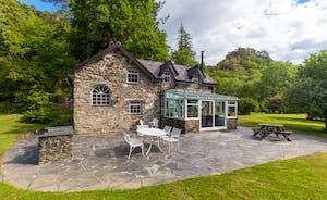 Aber Cottage Rear Exterior
