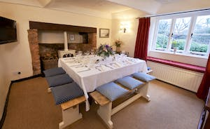 Halse Water House - A big dining table to seat 12 makes Halse Water House perfect for celebrations